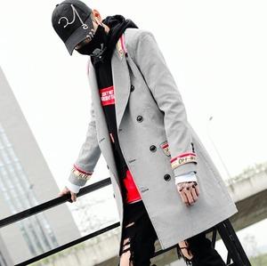 j1738スーツジャケット メンズ  テーラードジャケット ロング コート カジュアル 秋 スリム チェック柄