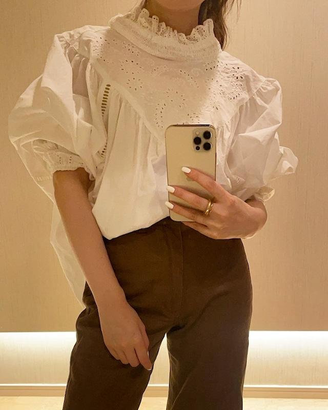 parisienne straight pants (brown)