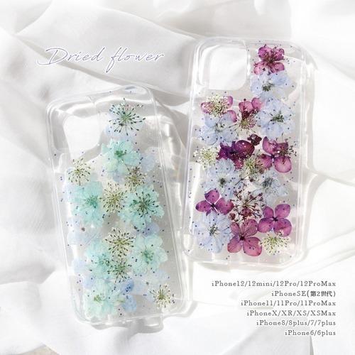 iPhone 12 mini ケース アイフォン スマホケース iphone 12 mini Pro ProMax 11 SE XR XSMax XS X 10 8 7 6 PLUS 押し花 ドライフラワー ソフト spc-062