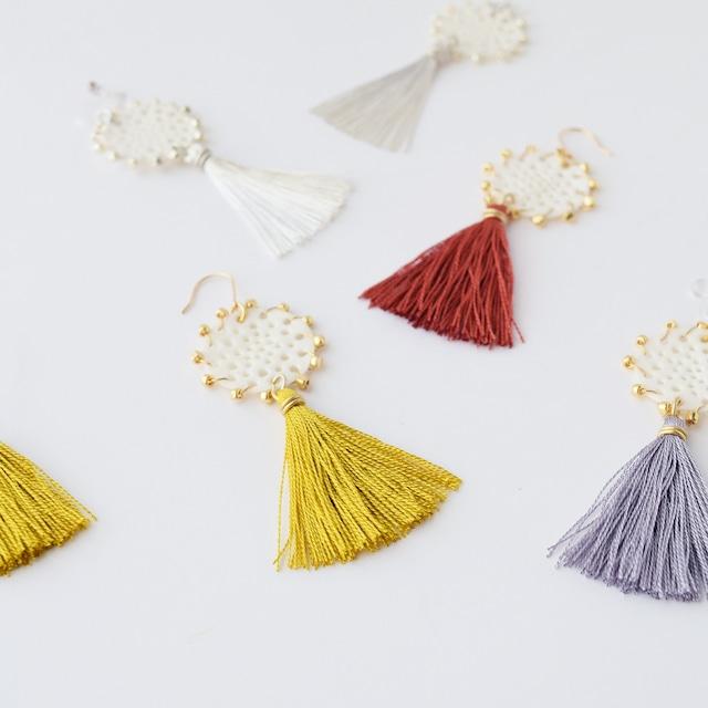 silk tassel lace - シルクタッセルレース ピアス・イヤリング