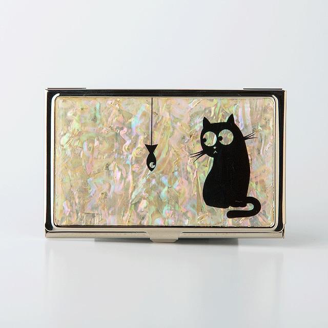 天然貝 名刺カードケース(タマと煮干し)シェル・螺鈿アート