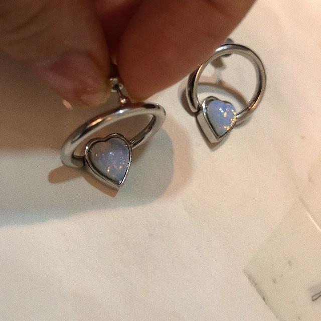 HEART BEADS RING earring LA18011P 片耳