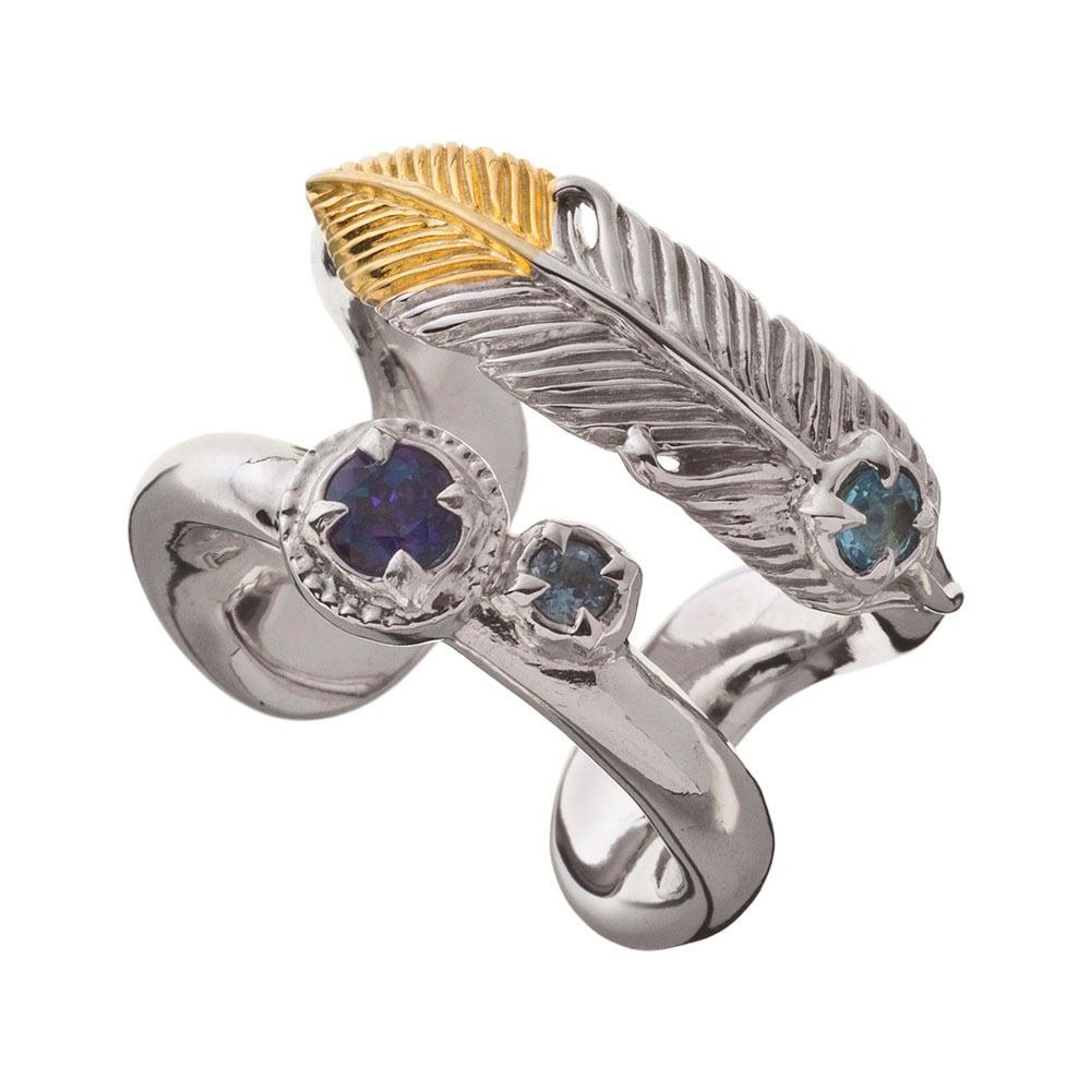 フェザーダブルリング ACR0266 Feather double ring 【「貴族誕生 -PRINCE OF LEGEND-」衣装協力商品】