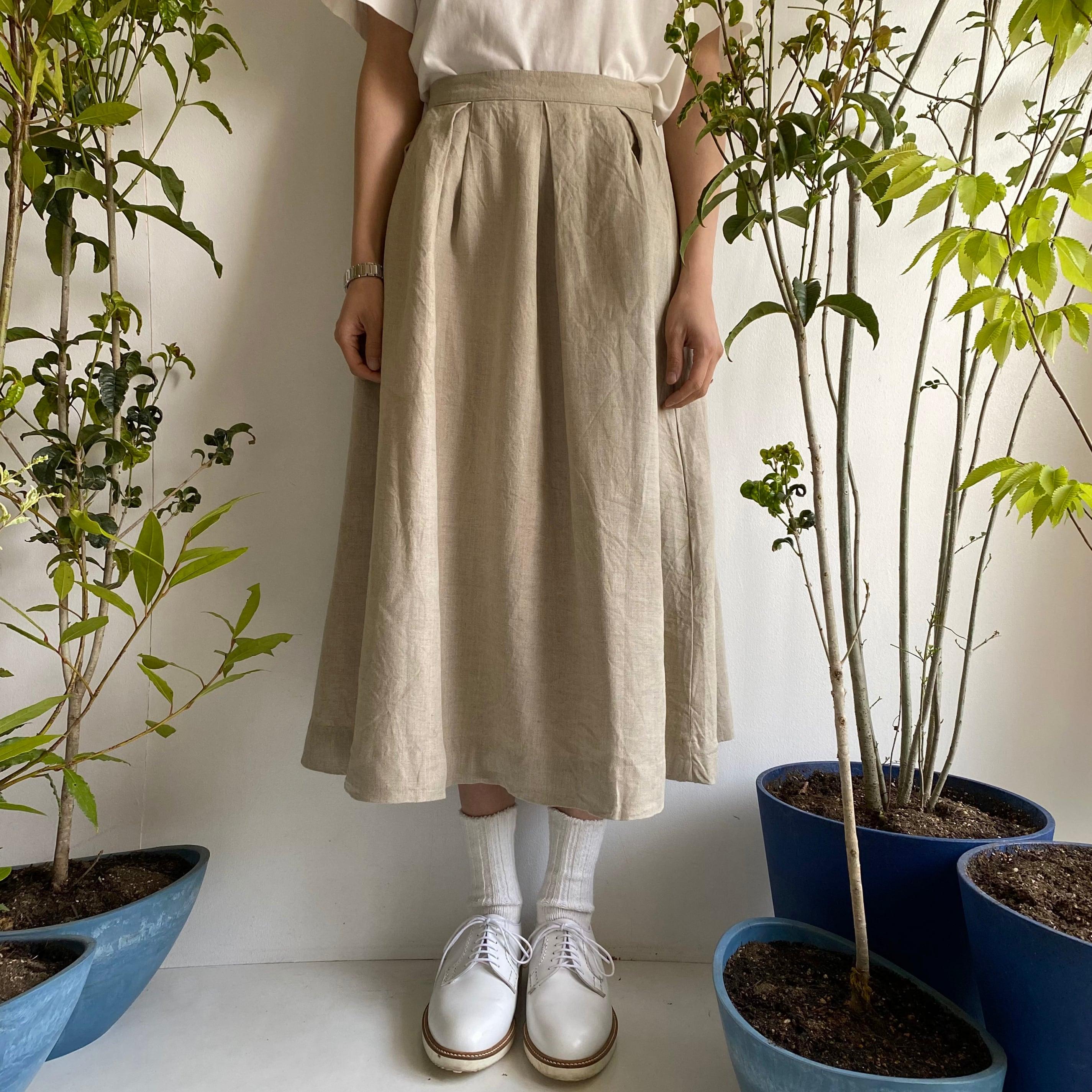 """Tuck Skirt """"natural"""""""