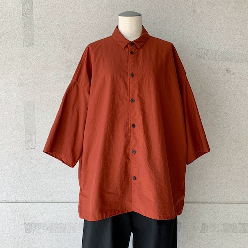 【FIRMUM】ナイロンタッサー/ガーメントダイオーバーシャツ/  AR_FR106S5