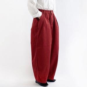 【HARVESTY】CHINO CIRCUS PANTS (RED) (UNISEX) サーカスパンツ ユニセックス 日本製 ハーベスティ