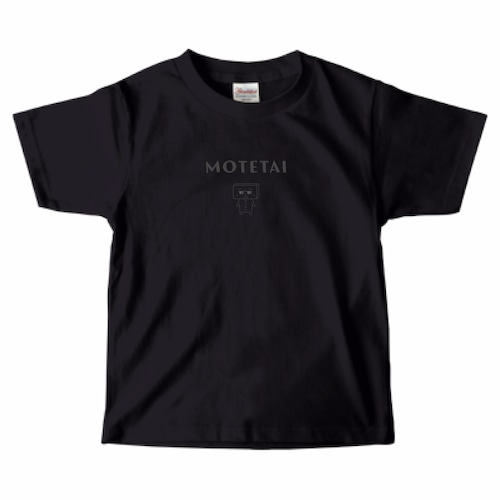 とうふめんたるずTシャツ(あつし先輩・キッズ・黒)