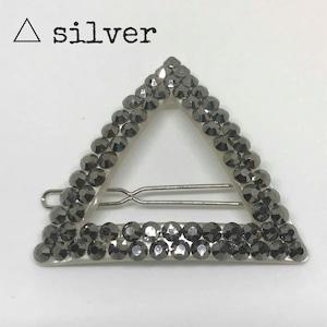 レトロピン 三角形シルバー