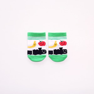 靴下 ベビー/ストライプ【がたんごとんがたんごとん】【絵本のくつした】