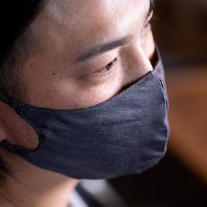 メンズ 3層シルクマスク ギャザータイプ /カラー:チャコール【bionatural】
