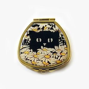 Andrea Garland (アンドレアガーランド) アロマリップ&ネイルバーム ピルボックス 【BLACK CAT IN MARGUERITES】