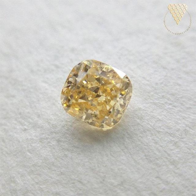 0.259 ct F.Or.Yellow SI2 天然 イエロー ダイヤモンド
