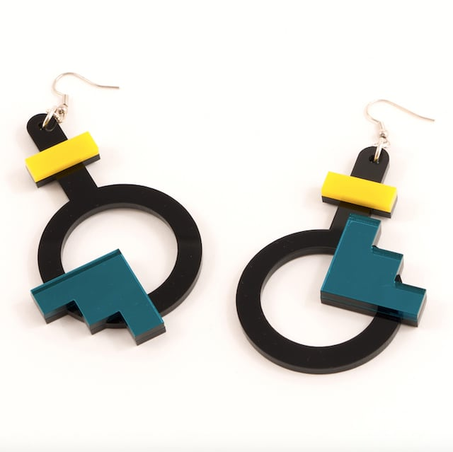 """MYSTIC FORMS """"Geometric Perspex Statement Earrings """" FORM003 ピアス"""