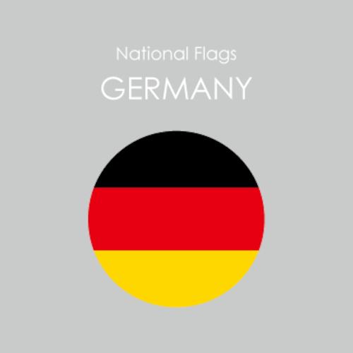 円形国旗ステッカー「ドイツ」