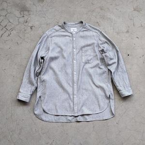 "<OSOCU> Chita-momen band collar shirt ""Sashiko"""""