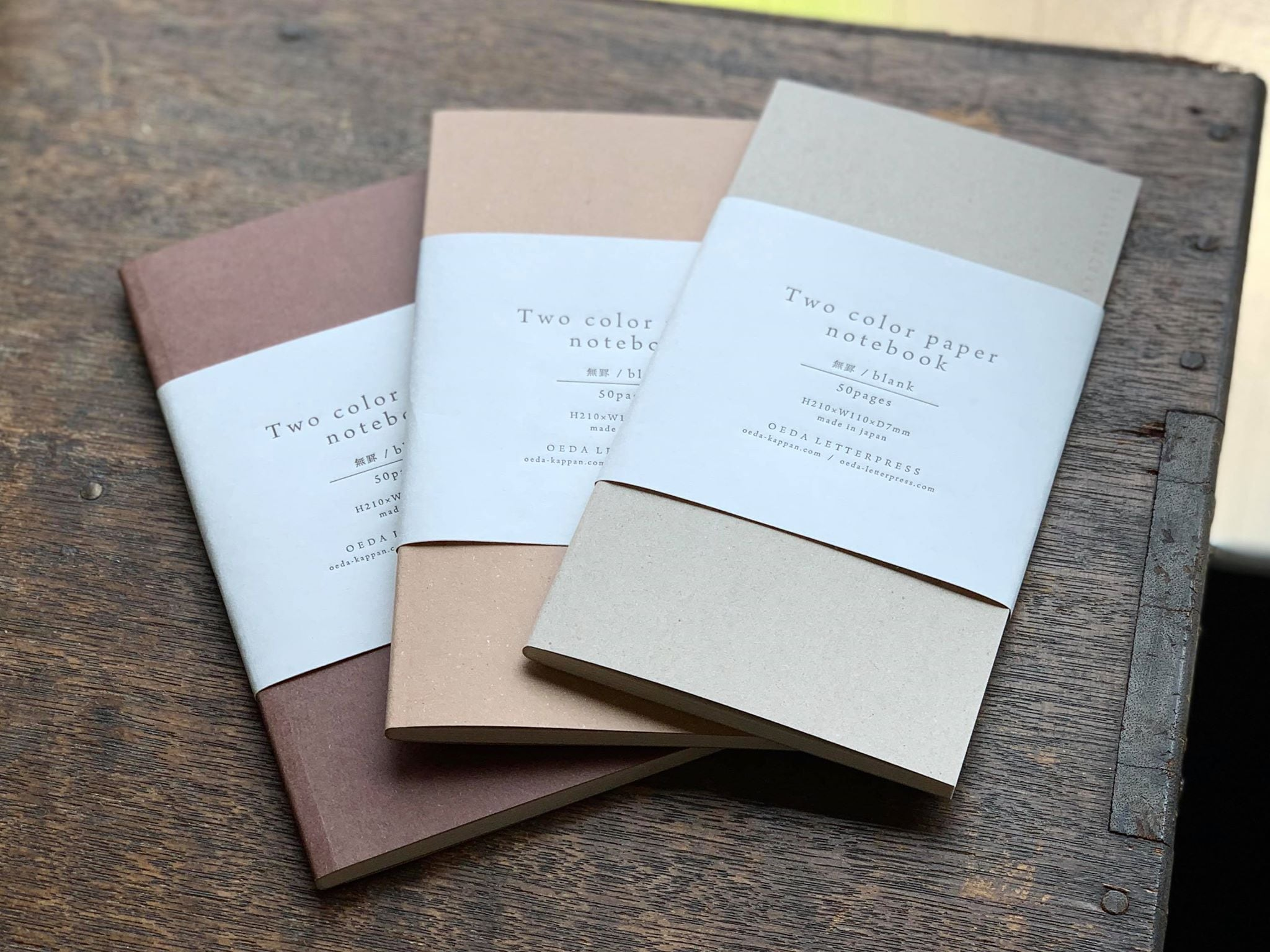 Two color paper notebook(brown・craft・beige)