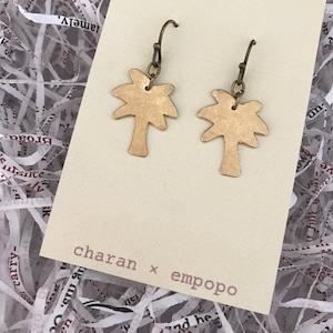 charan × empopo 【真鍮ピアス ヤシの木】