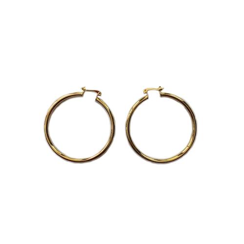 【GF2-27】gold filled simple hoop earring