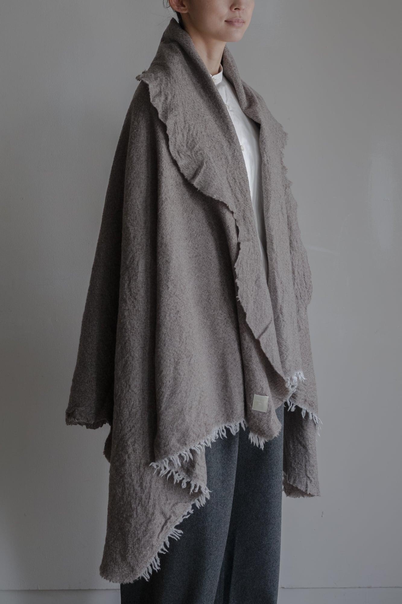 01602-2 chambray cut stole / lightgray,brown