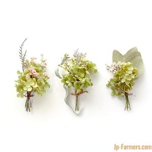 さりげなく花のある暮らしを ドライフラワーミニブーケのみ アナベルと宿根スターチス