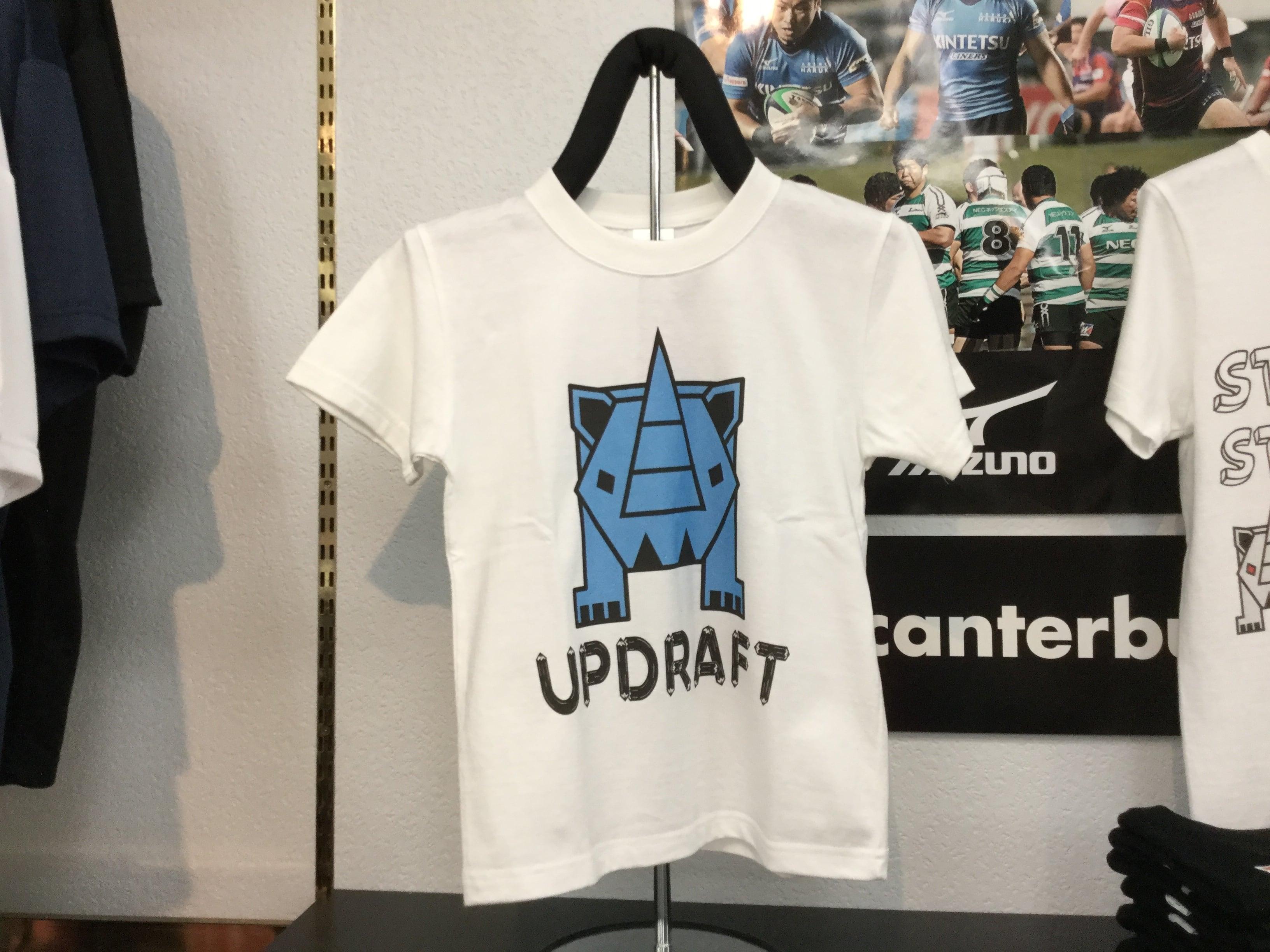 【キッズ】オリジナルサイTシャツ ホワイト×ライトブルー(綿100%)