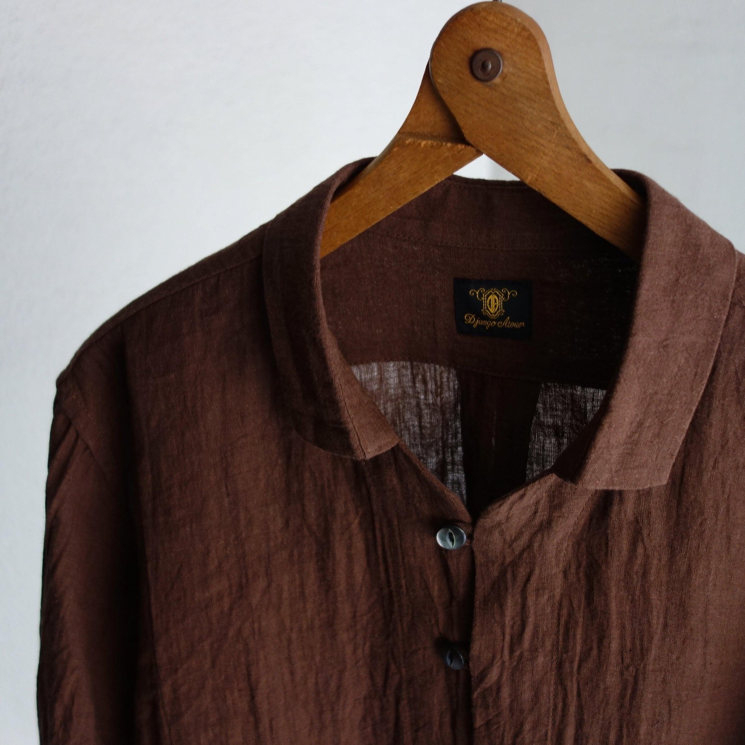 da farmers linen shirtcardigan / brown