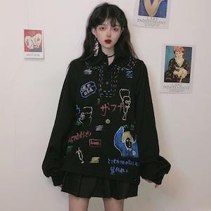 【トップス】韓国系ファッション長袖プリントパーカー42912288