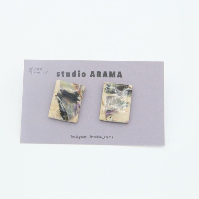 studioARAMA/スタジオアラマ/アートミニピアス/AM-1-13