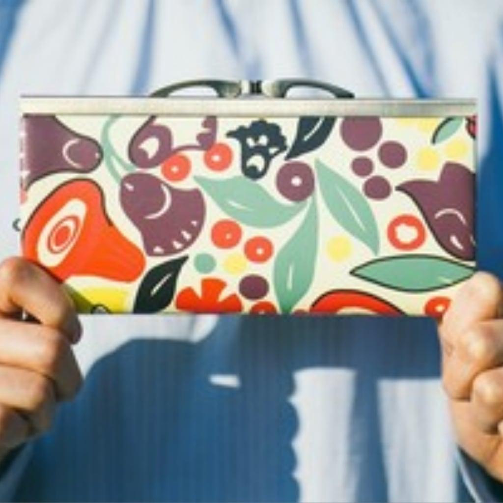 おすすめ8柄☆【秀和 x pink india】北欧デザイン 牛革がま口復刻長財布