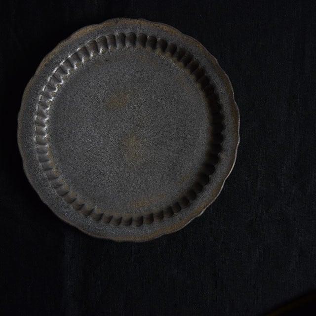 マルヤマウェア ブロンズしのぎプレート (6寸半 20cm)