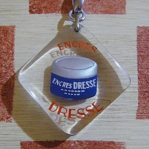 フランス インク会社ENCRES DRESSE[アンクル・ドレス]ボトル広告ノベルティ ブルボンキーホルダー
