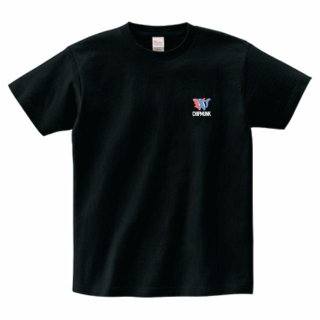 Tシャツ/シマリスキャラクター②/ブラック/TS-CC-002B