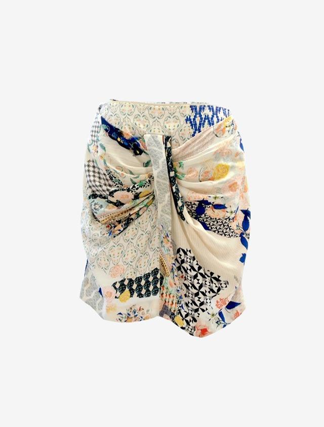 ANNE VALERIE HASH Silk Skirt