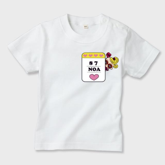 名前入れ Tシャツ 女の子名札ver.小
