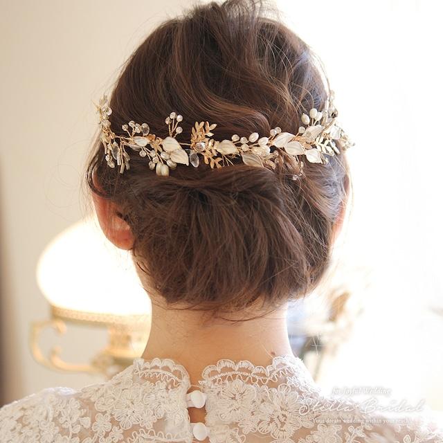 【OUTLET】ナチュラルリーフの小枝ヘッドドレス ウェディングヘアアクセサリー