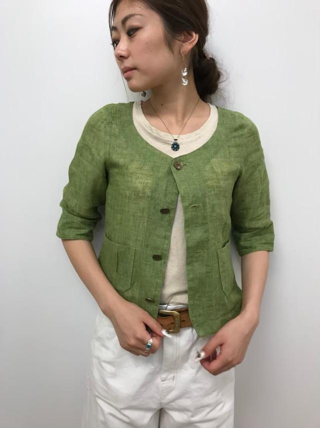 【ONEWASH】リネンショートジャケット