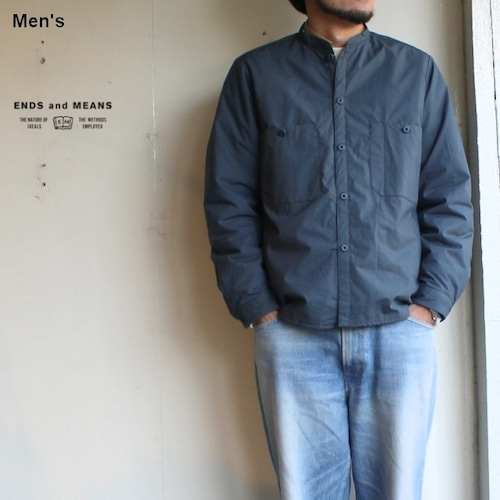 ENDS and MEANS Puff Shirts Jacket  EM182S010 (スモーキーブルー)