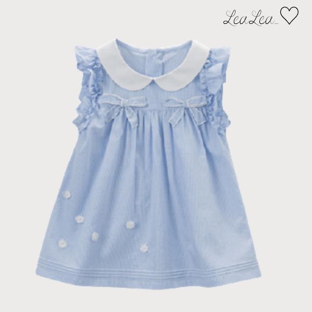 dave&bella2021AW新作♡ブルーストライプ襟付きワンピース(66-130cm)| LeaLea...♡(レアレア)-海外の子供服セレクトショップ
