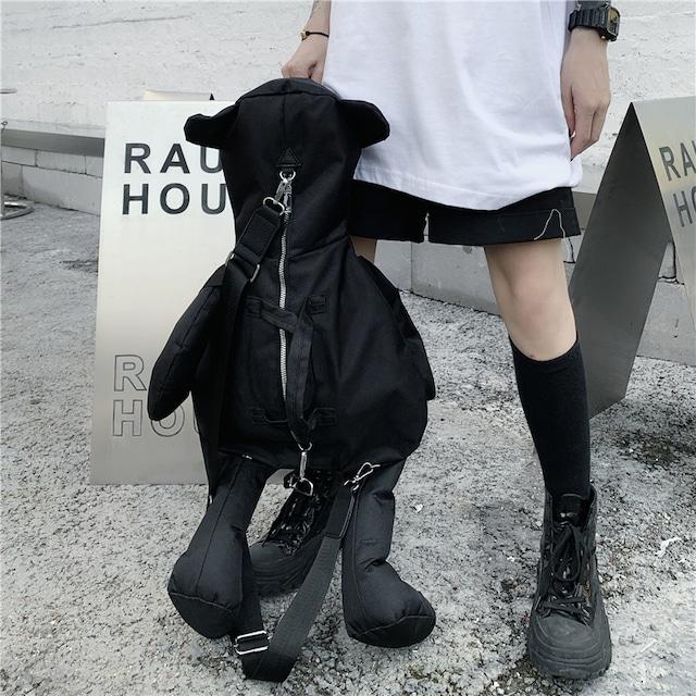 【大魔王シリーズ】★バッグ★ 動物 くま 熊 クマ 可愛い ブラック 黒い おしゃれ ファッション 個性的