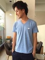 ヨダかVネックTシャツブルー