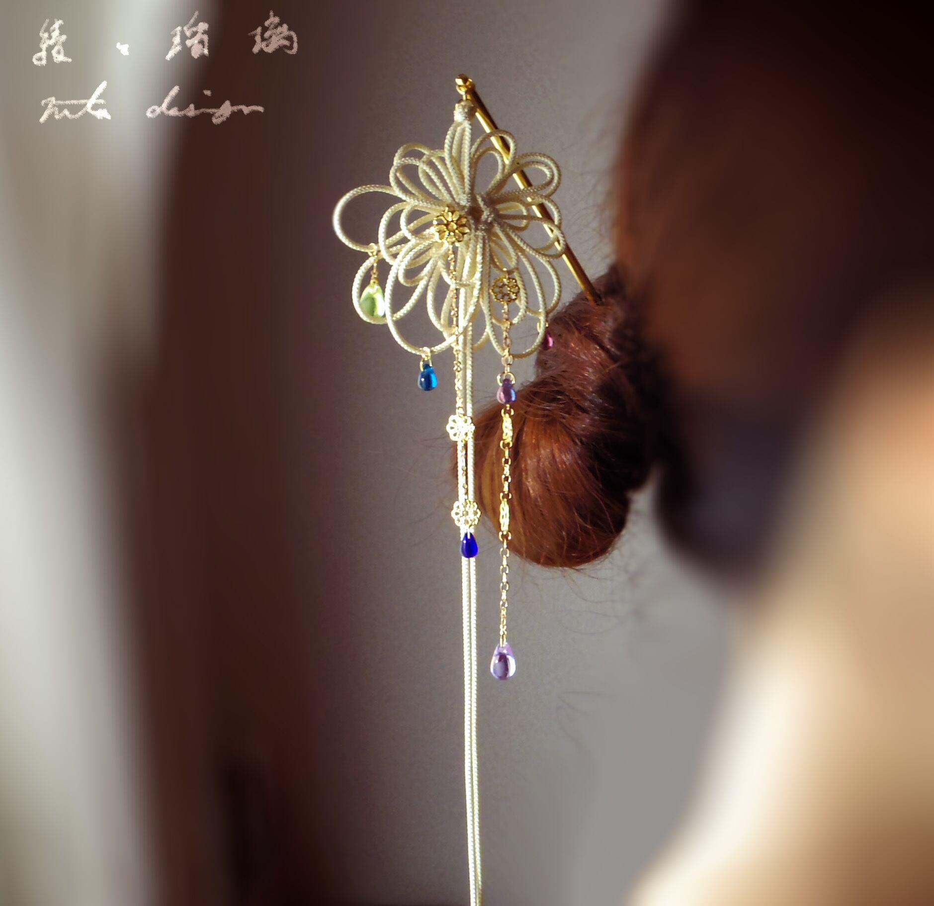 かんざし「綾と瑠璃」