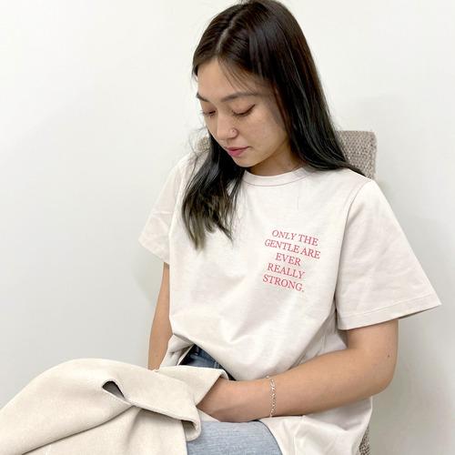 Dignite collier/ディニテコリエ フレアプリントTシャツ TW--802107