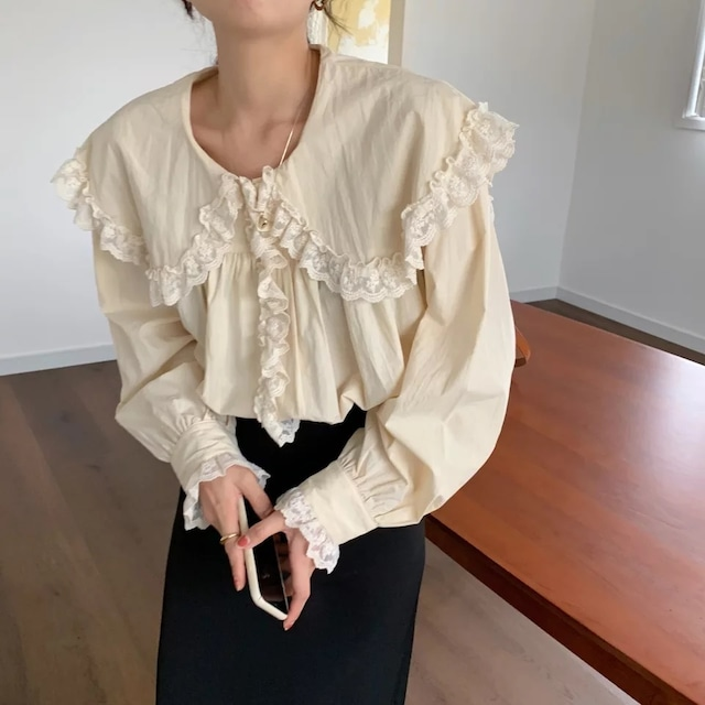big collar blouse[2103-20]