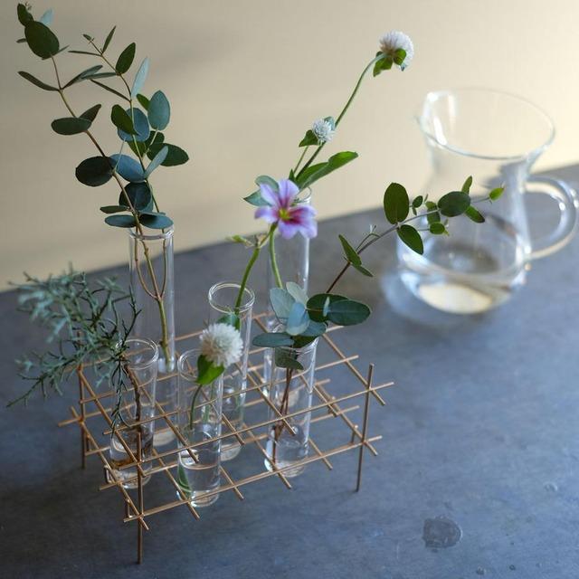BIRD'S NEST glass test tube vase(S) ゴールド