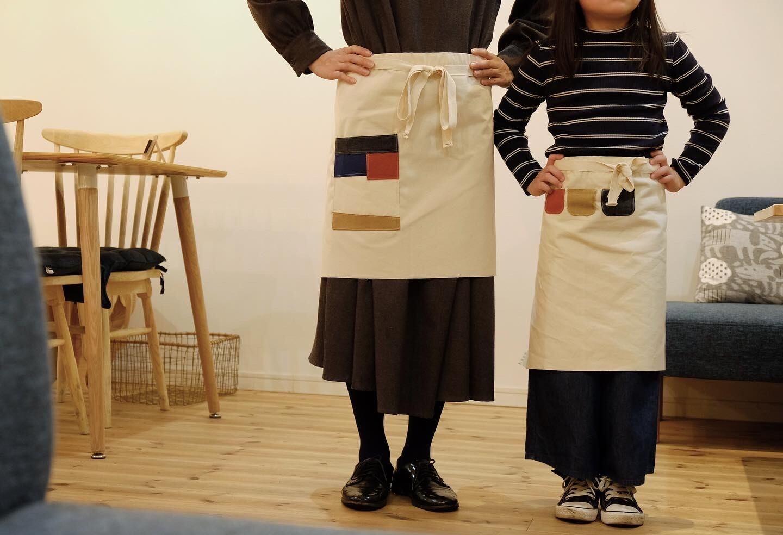 手縫いでつくるエプロンキット(子供用)