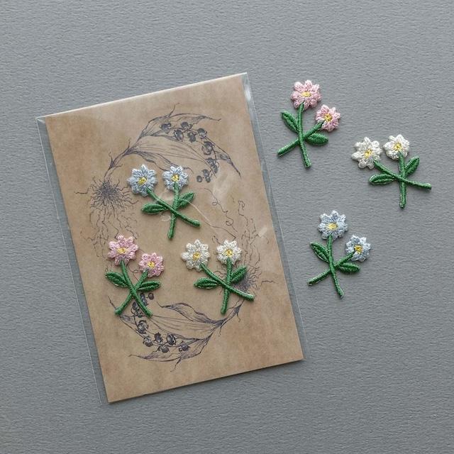 Nene mercerie 3色の小さなお花3枚セット