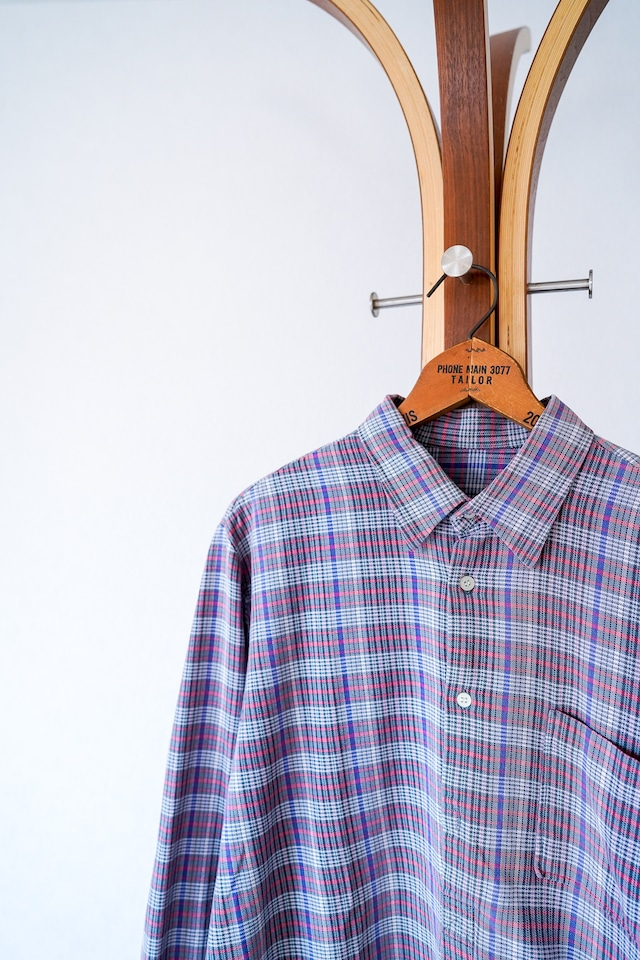 "【1960s】""French Made"" Euro Vintage Grandpa Shirts / v663"