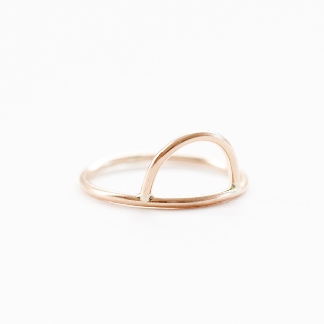 【SPECHIAL  SALE!】 ANOTHER FEATHER / CURVE RING GOLD