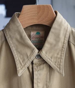 VINTAGE 60s-70s REEVES WORK SHIRT -MADE in USA-