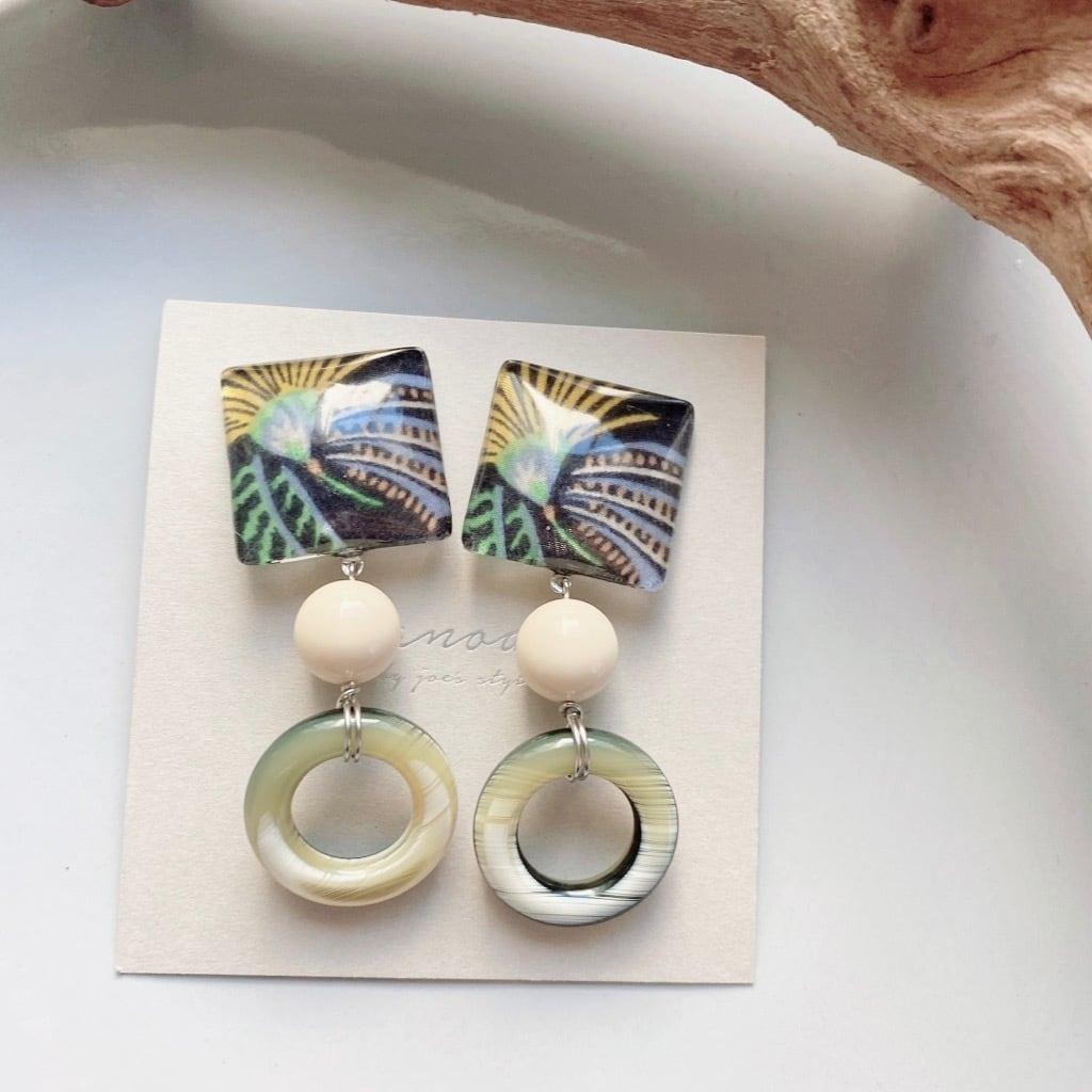 """ Earrings NO.danoan-114″ リバティとヴィンテージボーン"